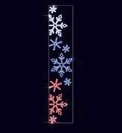 Снежинки триколор СК-168