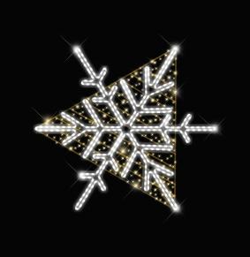 Снежинка треугольник CM-01
