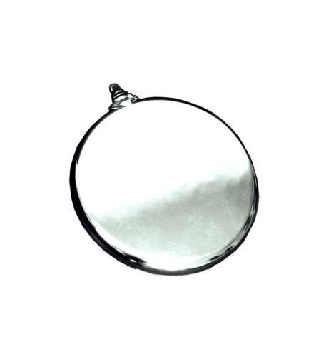 Шар  плоский серебро