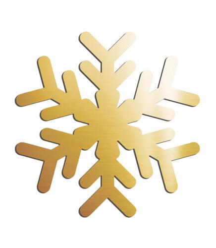 Снежинка зеркальная золото