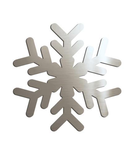 Снежинка зеркальная серебро