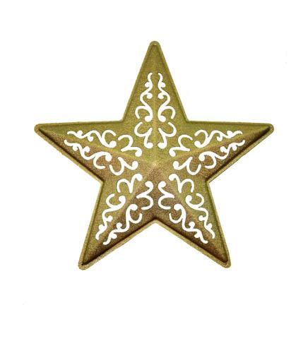 Звезда ажурная  золото
