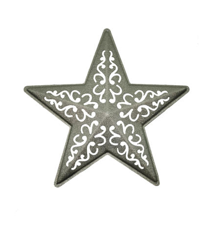 Звезда ажурная серебро