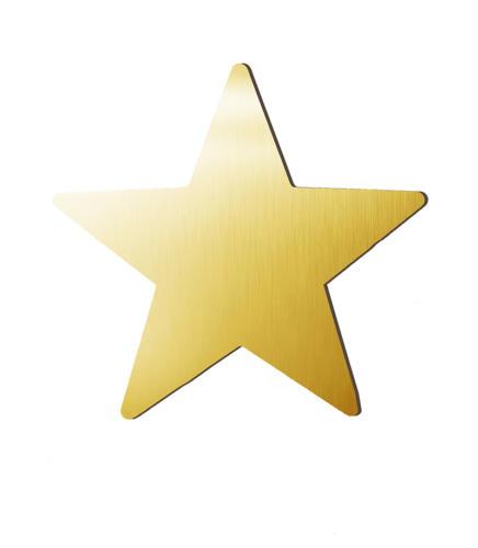 Звезда зеркальная золото