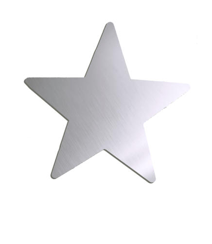 Звезда зеркальная серебро